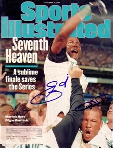 Gary Sheffield & Edgar Renteria autographed 1997 Florida Marlins World Series Sports Illustrated
