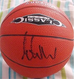 Elton Brand autographed mini basketball