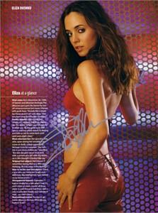 Eliza Dushku autographed Maxim magazine sexy full page photo
