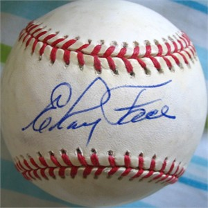 Elroy Face autographed National League baseball