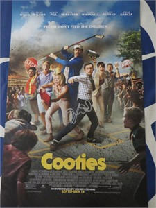 Elijah Wood autographed Cooties mini movie poster (JSA)