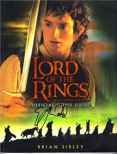 Elijah Wood autographed Lord of the Rings Official Movie Guide softcover book
