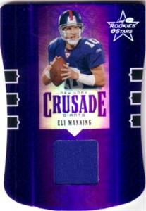 Eli Manning New York Giants 2005 Leaf game jersey card #47/150