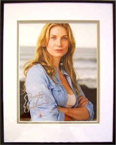 Elizabeth Mitchell autographed 8x10 portrait photo matted & framed