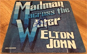 Elton John autographed LIVE record album