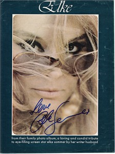 Elke Sommer autographed Playboy magazine full page nude photo