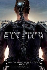 Elysium mini movie poster (Matt Damon & Jodie Foster)