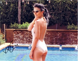 Emmanuelle Chriqui autographed sexy 8x10 swimsuit photo