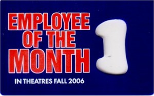 Employee of the Month movie promo bottle opener