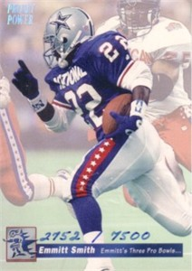 Emmitt Smith 1993 Pro Set Power commemorative card #2752/7500