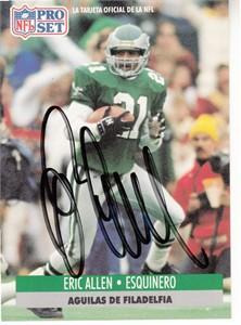 Eric Allen autographed Philadelphia Eagles 1992 SkyBox card