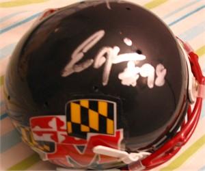 Eric Barton & Eric Hicks autographed Maryland Terrapins mini helmet