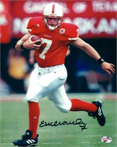 Eric Crouch autographed Nebraska Cornhuskers 8x10 photo