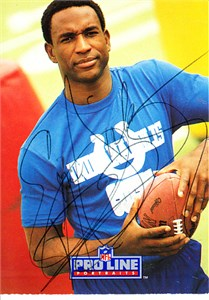 Eric Dickerson autographed Indianapolis Colts 1988 Topps 1000 Yard Club card