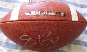Eric Berry autographed Nike Aero Elite leather football