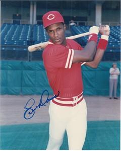 Eric Davis autographed Cincinnati Reds vintage 8x10 photo