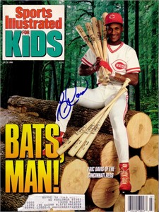 Eric Davis autographed Cincinnati Reds 1990 Sports Illustrated for Kids magazine