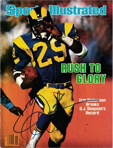 Eric Dickerson autographed Los Angeles Rams 1983 Sports Illustrated