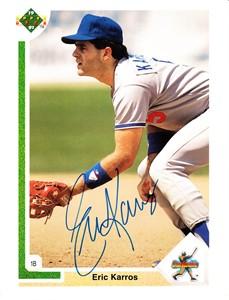 Eric Karros autographed Los Angeles Dodgers UDA jumbo 1991 Rookie Card