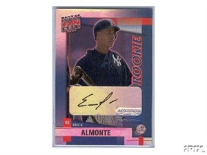 Erick Almonte certified autograph Yankees 2002 Donruss card
