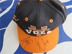 Erik Ainge & Tee Martin autographed Tennessee Vols cap or hat