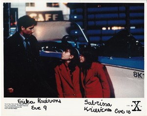 Erika & Sabrina Krievins autographed X-Files 8x10 photo