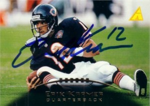 Erik Kramer autographed Chicago Bears 1995 Pinnacle card