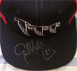 Eric Metcalf autographed Atlanta Falcons cap or hat