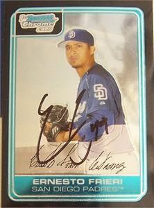Ernesto Frieri autographed San Diego Padres 2006 Bowman Chrome Rookie Card