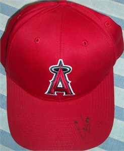 Ernesto Frieri autographed Angels cap or hat