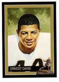 Ernie Davis Syracuse 1961 Heisman Trophy winner card