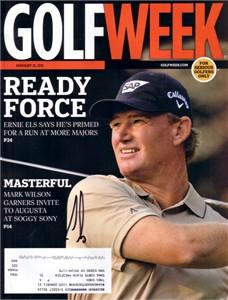 Ernie Els autographed 2011 Golfweek magazine
