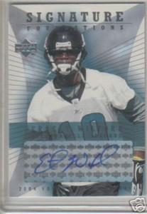 Ernest Wilford certified autograph Jacksonville Jaguars 2004 Upper Deck Foundations card