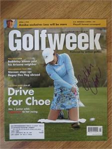 Esther Choe autographed 2007 Golfweek magazine