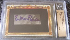 Eva Marie Saint certified autograph 2011 Leaf Masterpiece Cut Signature card #1/1