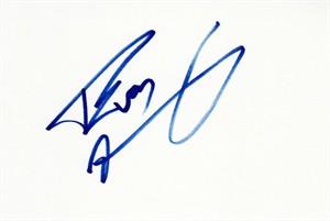 Evan Marriott autographed index card