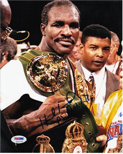 Evander Holyfield autographed 8x10 boxing photo (PSA/DNA)