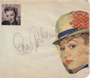 Eve Arden autographed autograph album or book page JSA