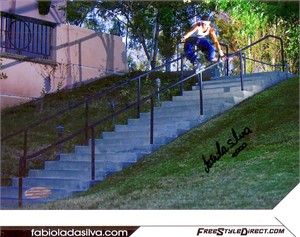 Fabiola da Silva (inline skater) autographed 8x10 photo