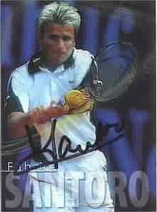 Fabrice Santoro autographed 2000 ATP Tour tennis card