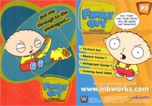 Family Guy 2005 Inkworks promo card P3