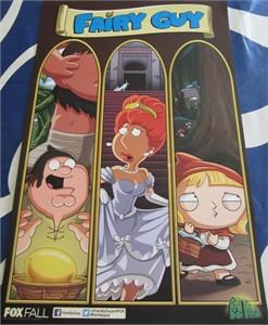 Family Guy 2013 San Diego Comic-Con exclusive 11x17 mini promo poster MINT