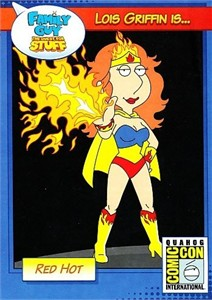 Family Guy Lois Griffin 2014 Comic-Con exclusive jumbo 3 1/2 by 5 inch promo card