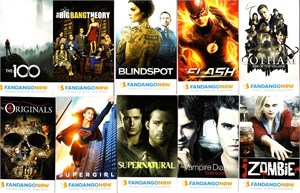 Fandango Now 2016 Comic-Con promo Warner Brothers 13 card set (Arrow Big Bang Theory Flash Gotham Supernatural)