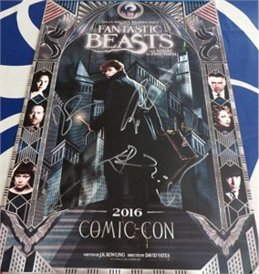 Fantastic Beasts cast autographed 2016 Comic-Con poster (Colin Farrell Eddie Redmayne)