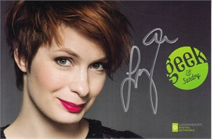 Felicia Day autographed 2015 Comic-Con Geek & Sundry 4x6 photo card