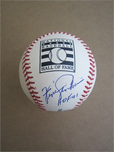 Fergie Jenkins autographed Rawlings Hall of Fame baseball (MLB authenticated)