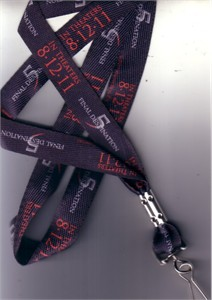 Final Destination 5 movie 2011 Comic-Con promo lanyard