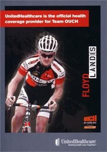 Floyd Landis 5x7 2009 UnitedHealthcare cycling promo card