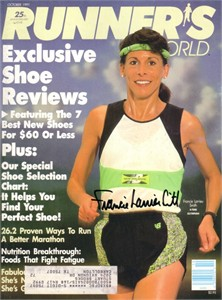 Francie Larrieu Smith autographed 1991 Runner's World magazine cover